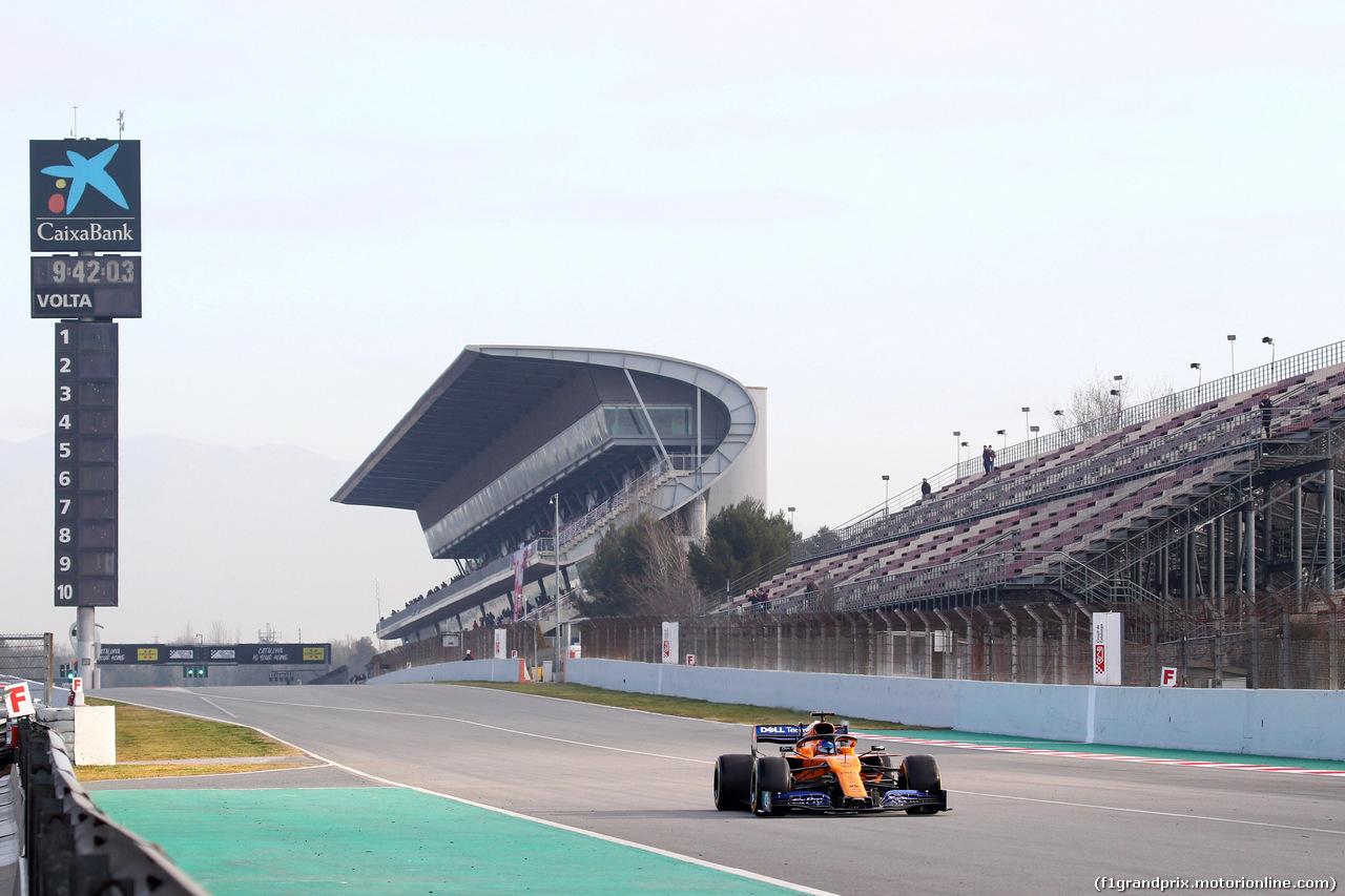 TEST F1 BARCELLONA 18 FEBBRAIO, Carlos Sainz Jr (ESP) Mclaren F1 Team MC34