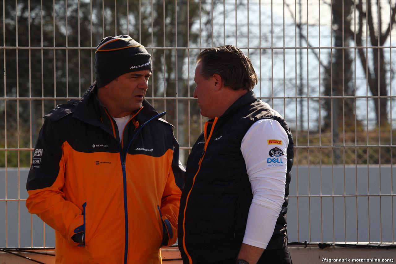 TEST F1 BARCELLONA 18 FEBBRAIO, Zak Brown (USA) McLaren Executive Director (right)