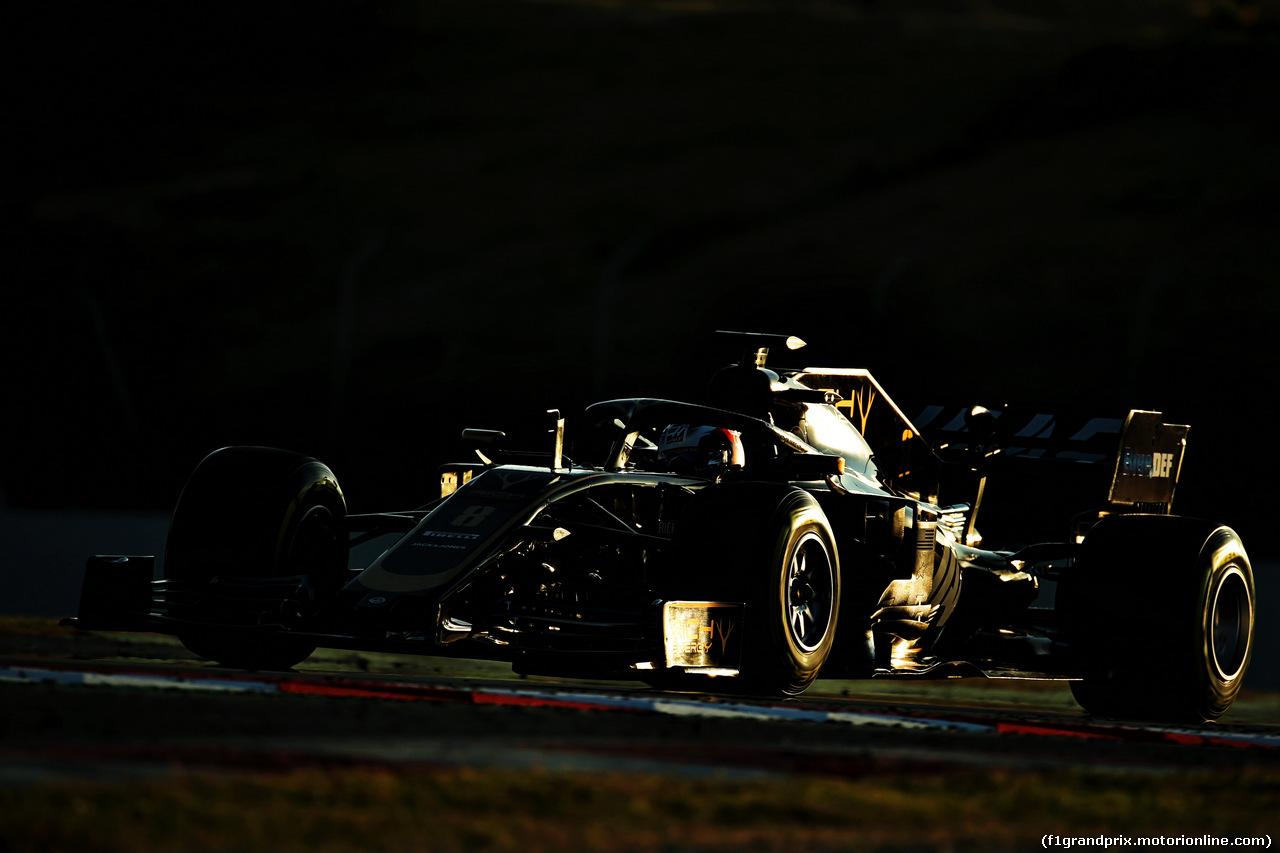 TEST F1 BARCELLONA 18 FEBBRAIO, Romain Grosjean (FRA) Haas F1 Team VF-19. 18.02.2019.