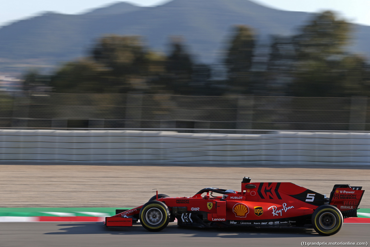TEST F1 BARCELLONA 18 FEBBRAIO, Sebastian Vettel (GER), Ferrari  18.02.2019.