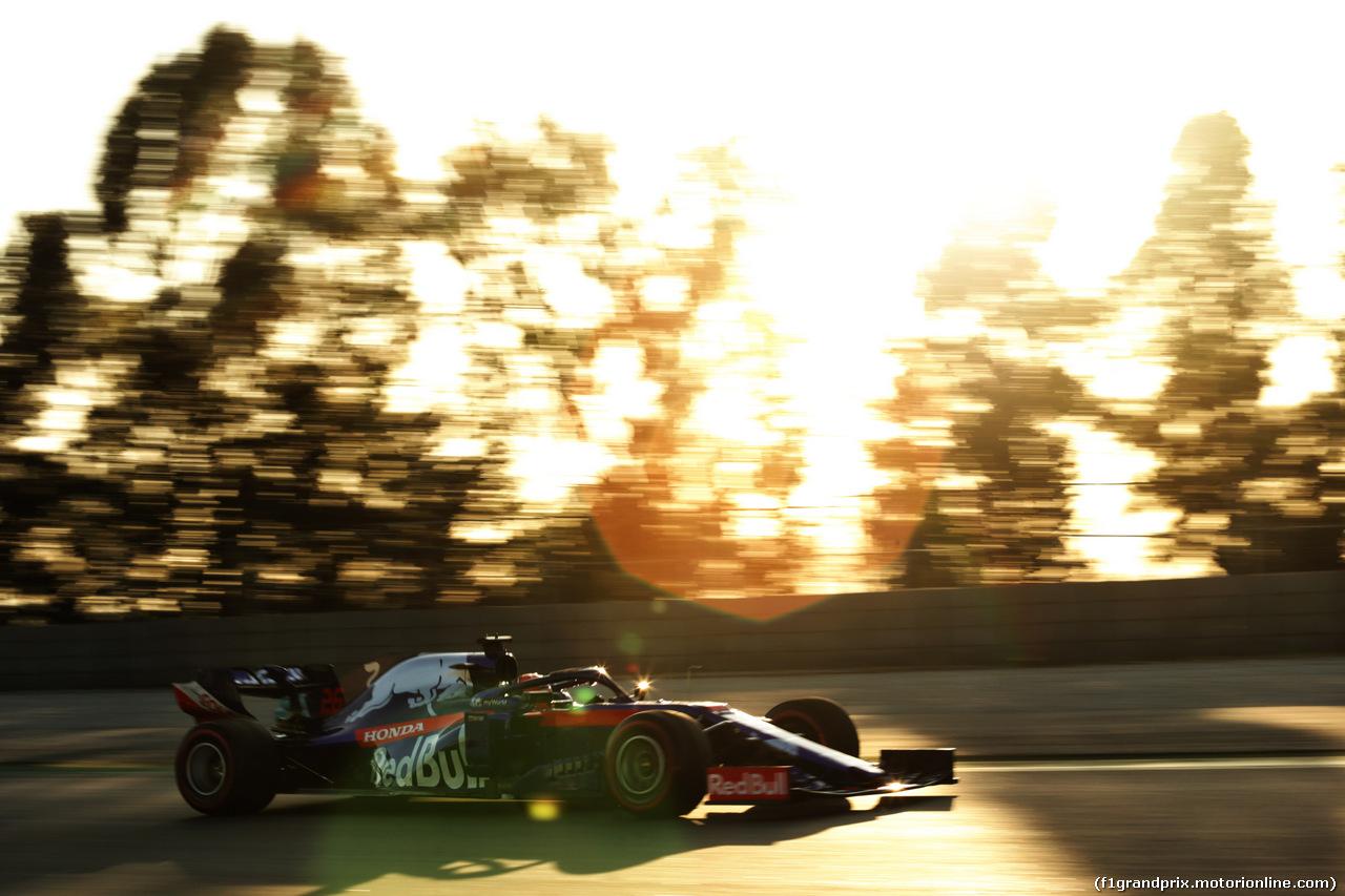 TEST F1 BARCELLONA 18 FEBBRAIO, Daniil Kvyat (RUS) Scuderia Toro Rosso STR14. 18.02.2019.