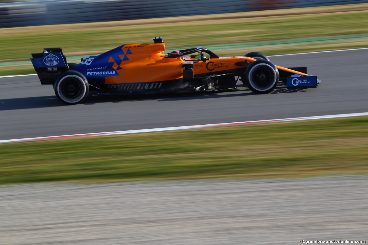 TEST F1 BARCELLONA 18 FEBBRAIO, Carlos Sainz Jr (ESP) Mclaren F1 Team MC34