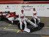 TEST F1 BARCELLONA 18 FEBBRAIO, Kimi Raikkonen (FIN) Alfa Romeo Racing with Antonio Giovinazzi (ITA) Alfa Romeo Racing. 18.02.2019.