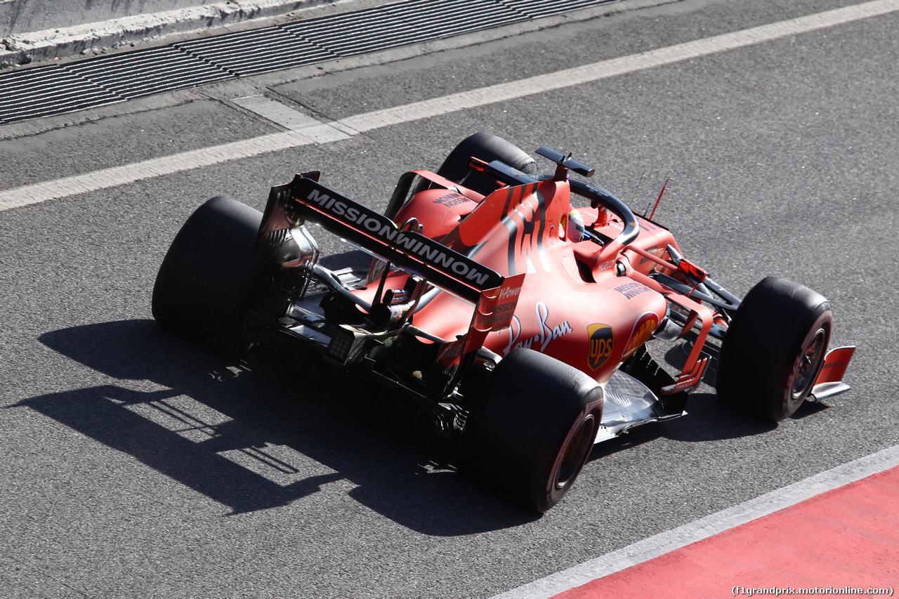 TEST F1 BARCELLONA 19 FEBBRAIO, Sebastian Vettel (GER) Ferrari SF90