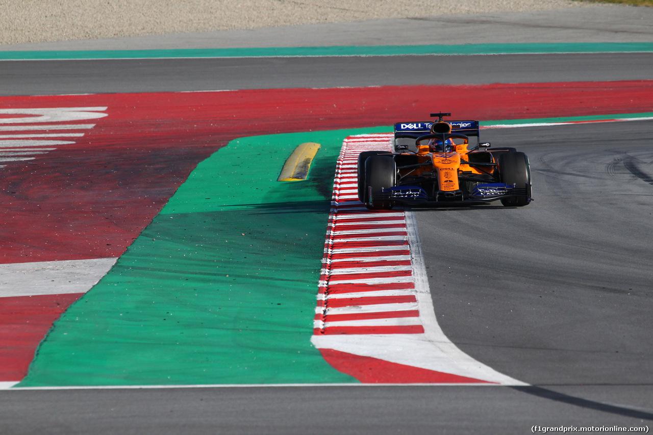 TEST F1 BARCELLONA 19 FEBBRAIO, Carlos Sainz Jr (ESP) Mclaren F1 Team MC34