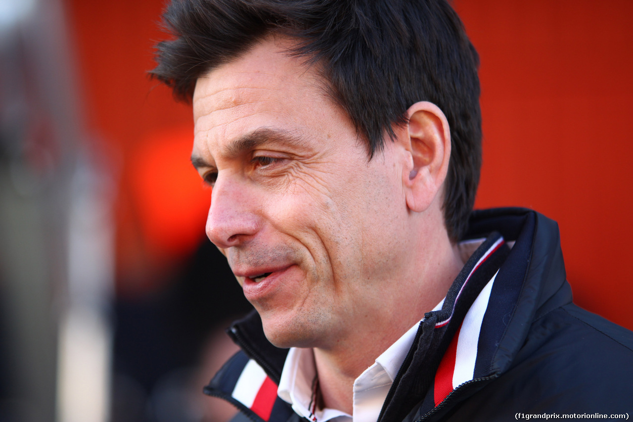TEST F1 BARCELLONA 19 FEBBRAIO, Toto Wolff (AUT) Sporting Director Mercedes-Benz