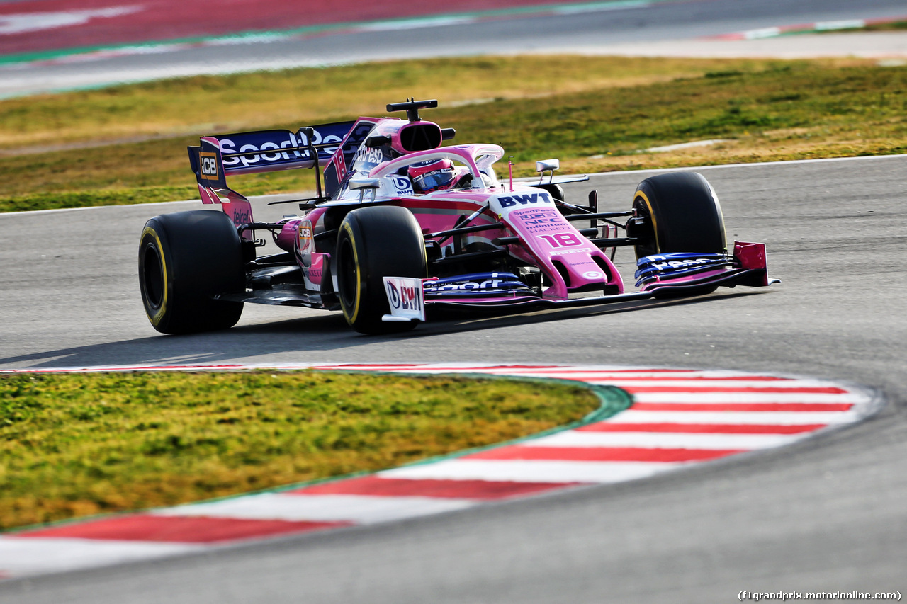 TEST F1 BARCELLONA 19 FEBBRAIO, Lance Stroll (CDN) Racing Point F1 Team RP19. 19.02.2019.
