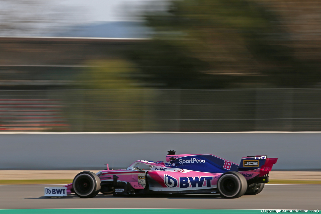 TEST F1 BARCELLONA 1 MARZO, Lance Stroll (CDN), Racing Point  28.02.2019.