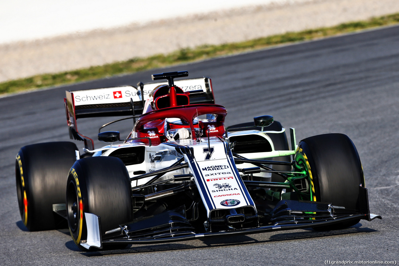 TEST F1 BARCELLONA 1 MARZO, Kimi Raikkonen (FIN) Alfa Romeo Racing C38. 01.03.2019.
