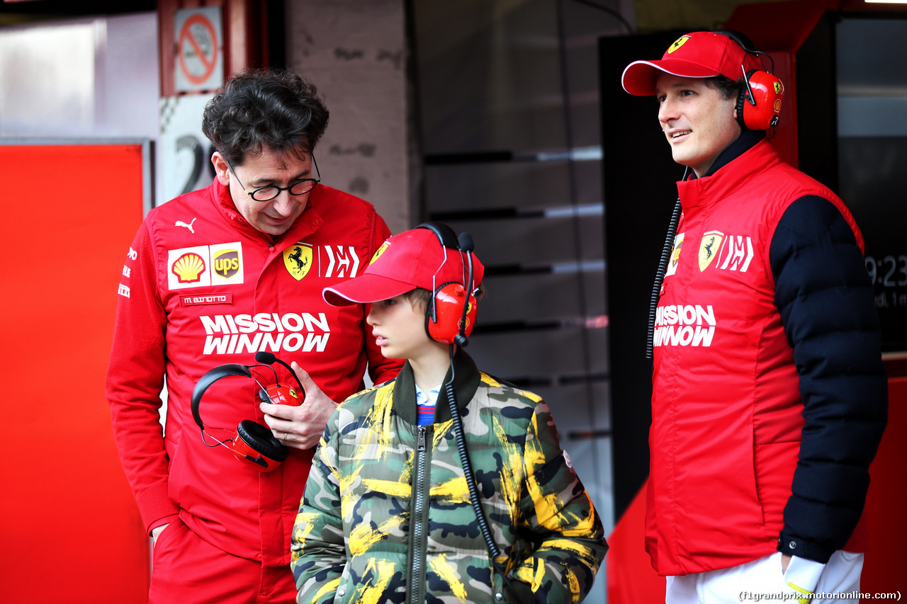 TEST F1 BARCELLONA 1 MARZO, Mattia Binotto (ITA) Ferrari Team Principal (Left) with John Elkann (ITA) FIAT Chrysler Automobiles Chairman. 01.03.2019.