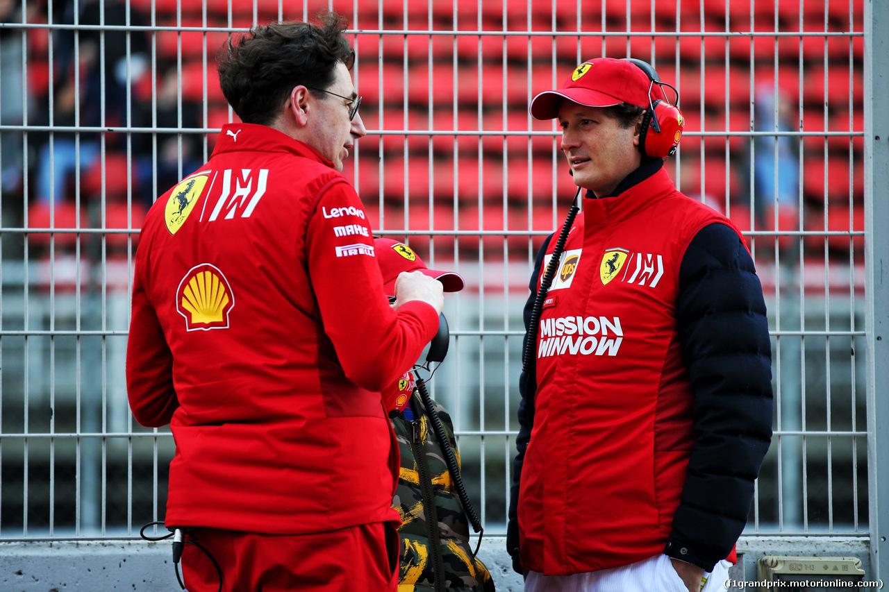 TEST F1 BARCELLONA 1 MARZO, (L to R): Mattia Binotto (ITA) Ferrari Team Principal with John Elkann (ITA) FIAT Chrysler Automobiles Chairman. 01.03.2019.