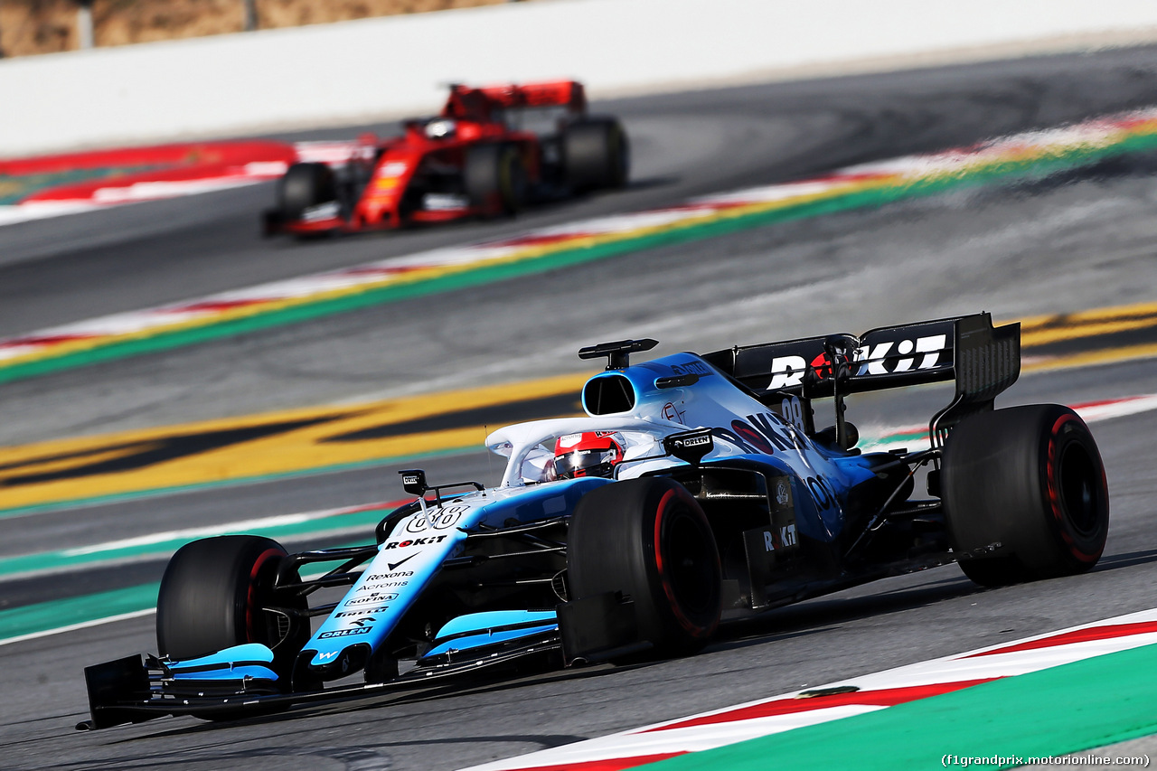 TEST F1 BARCELLONA 1 MARZO, Robert Kubica (POL) Williams Racing FW42. 01.03.2019.