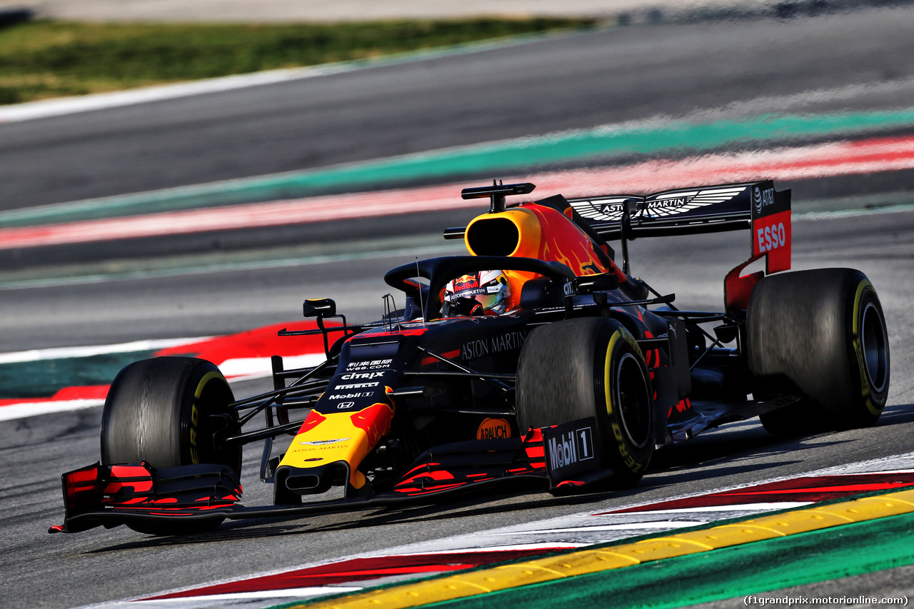 TEST F1 BARCELLONA 1 MARZO, Max Verstappen (NLD) Red Bull Racing RB14. 01.03.2019.