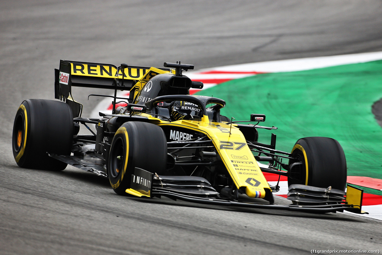 TEST F1 BARCELLONA 20 FEBBRAIO, Nico Hulkenberg (GER) Renault Sport F1 Team RS19. 20.02.2019.