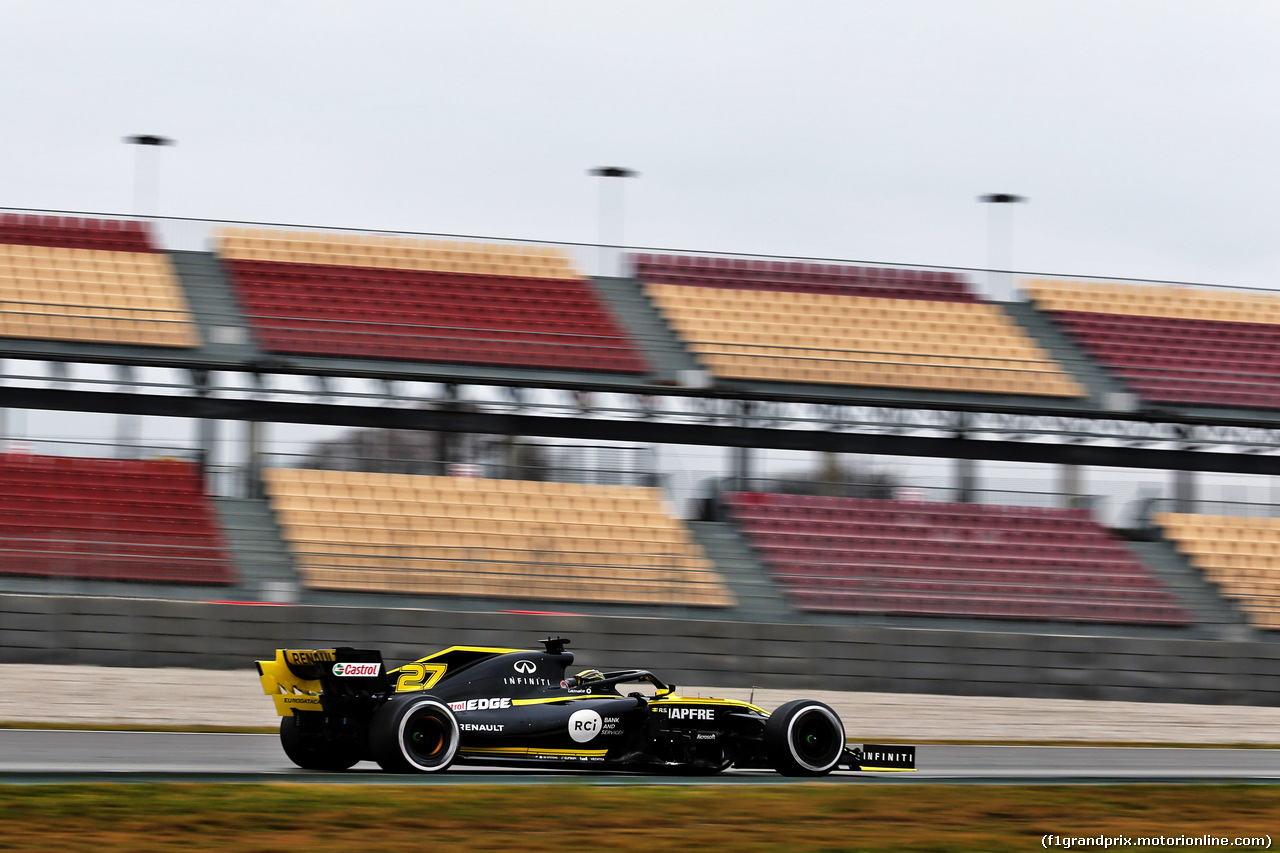 TEST F1 BARCELLONA 20 FEBBRAIO, Nico Hulkenberg (GER) Renault Sport F1 Team RS19. 20.02.2019.