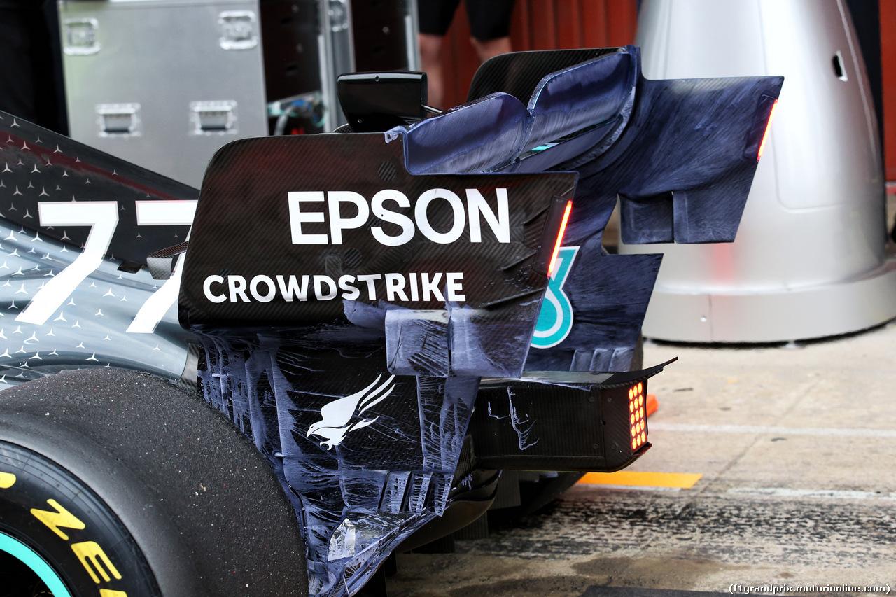 TEST F1 BARCELLONA 20 FEBBRAIO, Valtteri Bottas (FIN) Mercedes AMG F1 W10 rear wing - flow-vis paint. 20.02.2019.