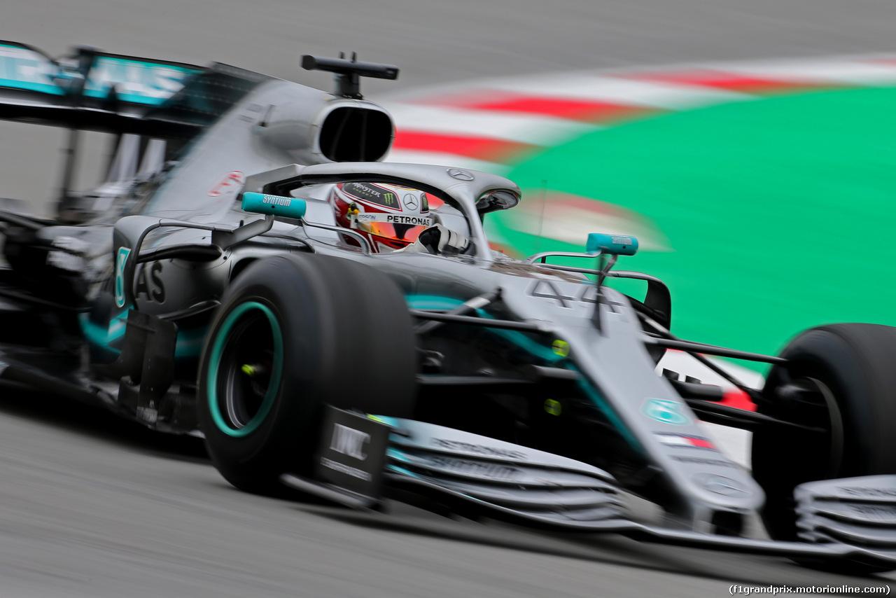 TEST F1 BARCELLONA 20 FEBBRAIO, Lewis Hamilton (GBR), Mercedes AMG F1   20.02.2019.