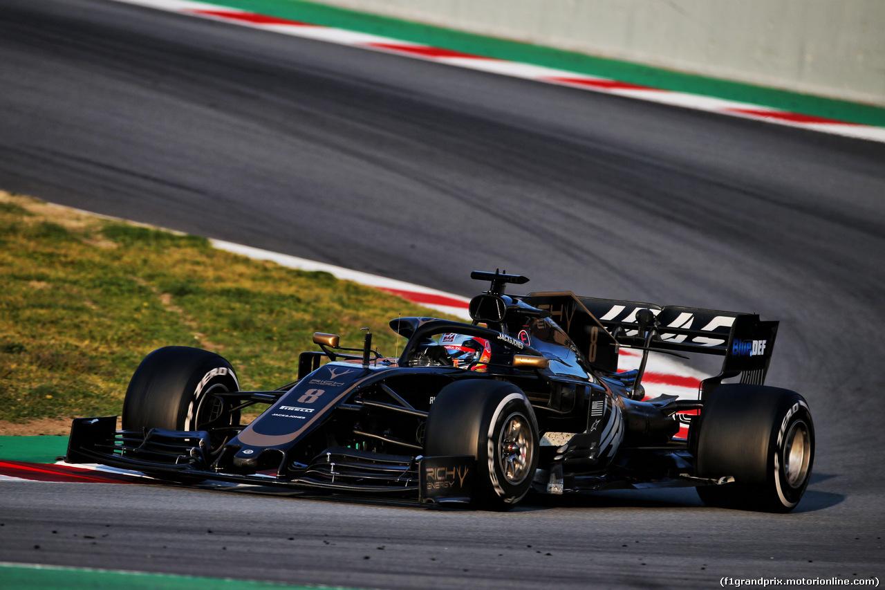 TEST F1 BARCELLONA 20 FEBBRAIO, Romain Grosjean (FRA) Haas F1 Team VF-19. 20.02.2019.