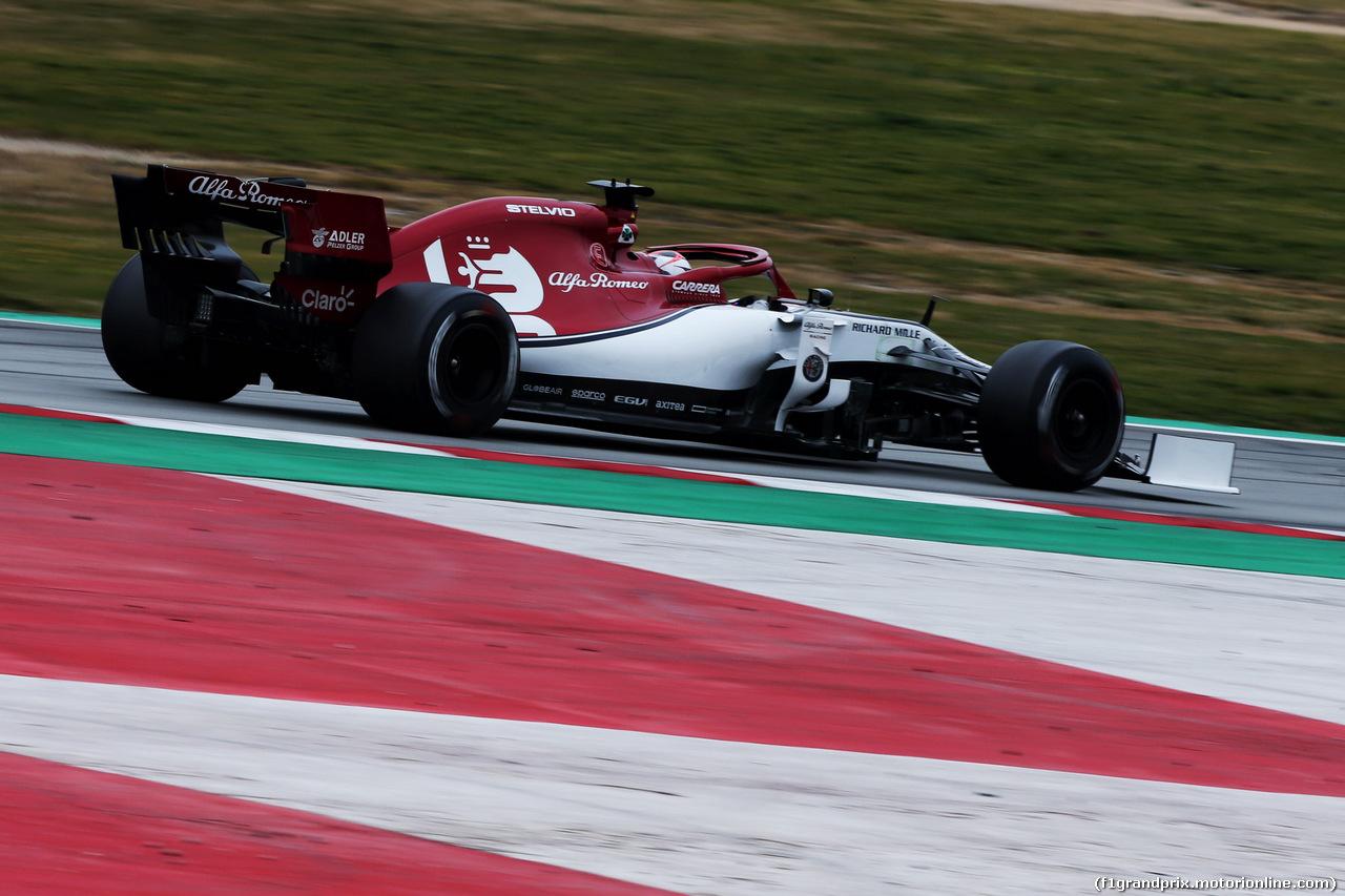 TEST F1 BARCELLONA 20 FEBBRAIO, Kimi Raikkonen (FIN) Alfa Romeo Racing C38. 20.02.2019.