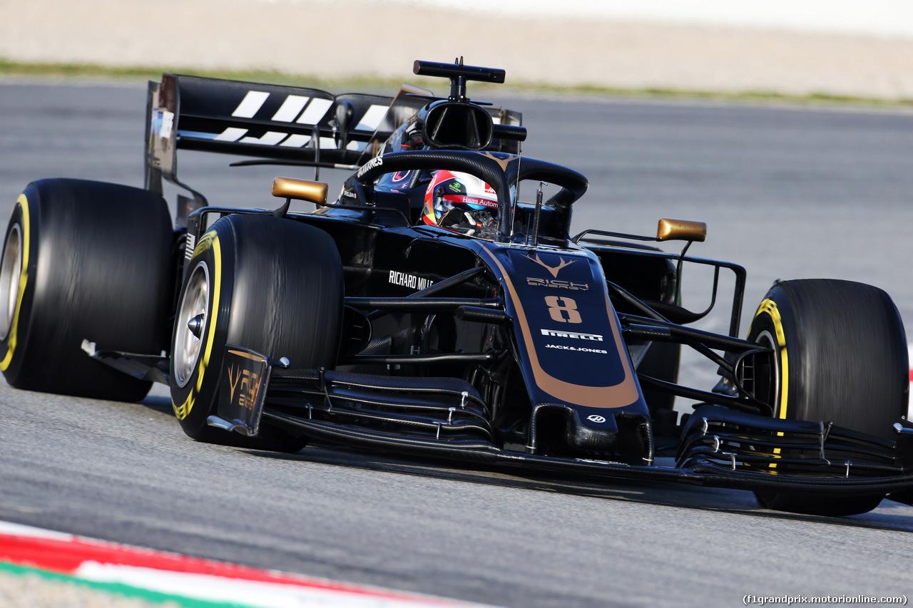 TEST F1 BARCELLONA 21 FEBBRAIO, Romain Grosjean (FRA) Haas F1 Team VF-19. 21.02.2019.