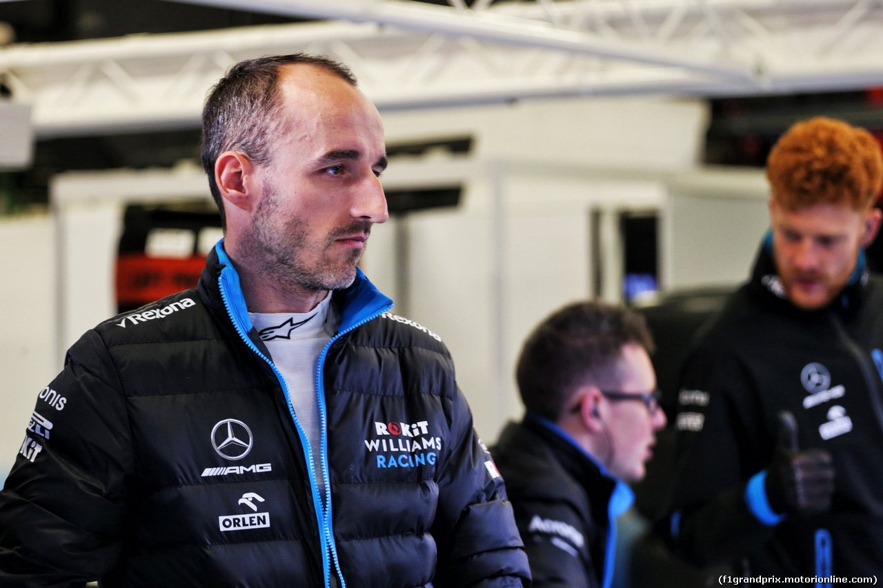 TEST F1 BARCELLONA 21 FEBBRAIO, Robert Kubica (POL) Williams Racing. 21.02.2019.