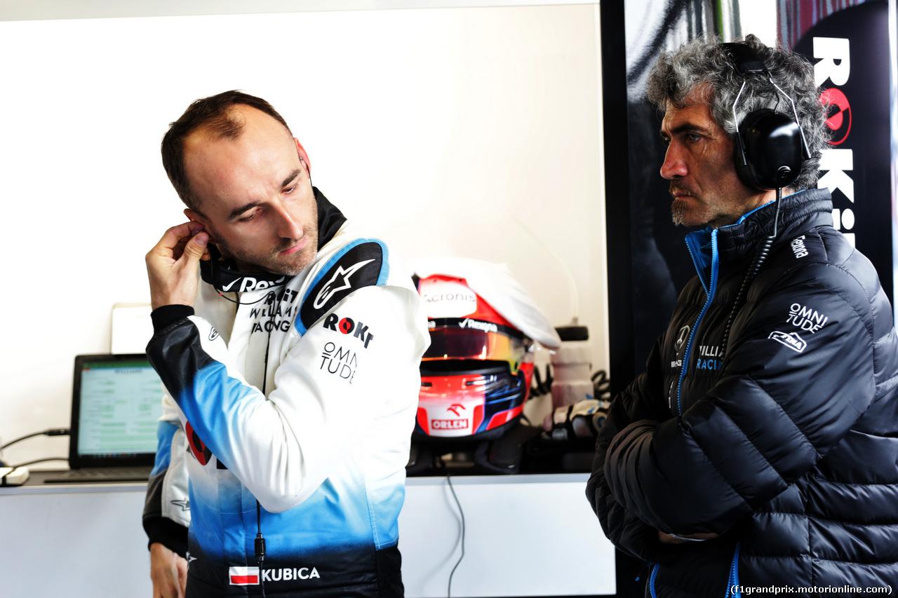 TEST F1 BARCELLONA 21 FEBBRAIO, (L to R): Robert Kubica (POL) Williams Racing with Edoardo Bendinelli (ITA) Personal Trainer. 21.02.2019.