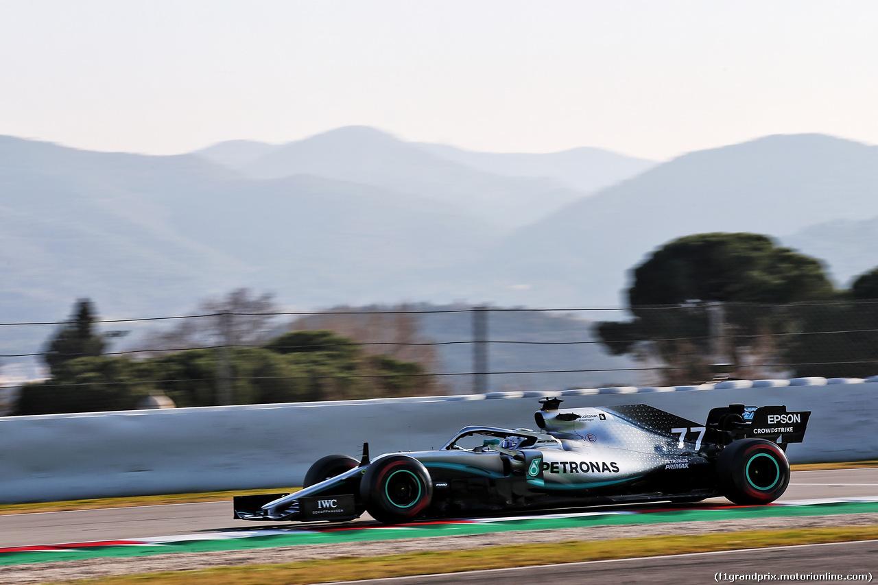TEST F1 BARCELLONA 21 FEBBRAIO, Valtteri Bottas (FIN) Mercedes AMG F1 W10. 21.02.2019.