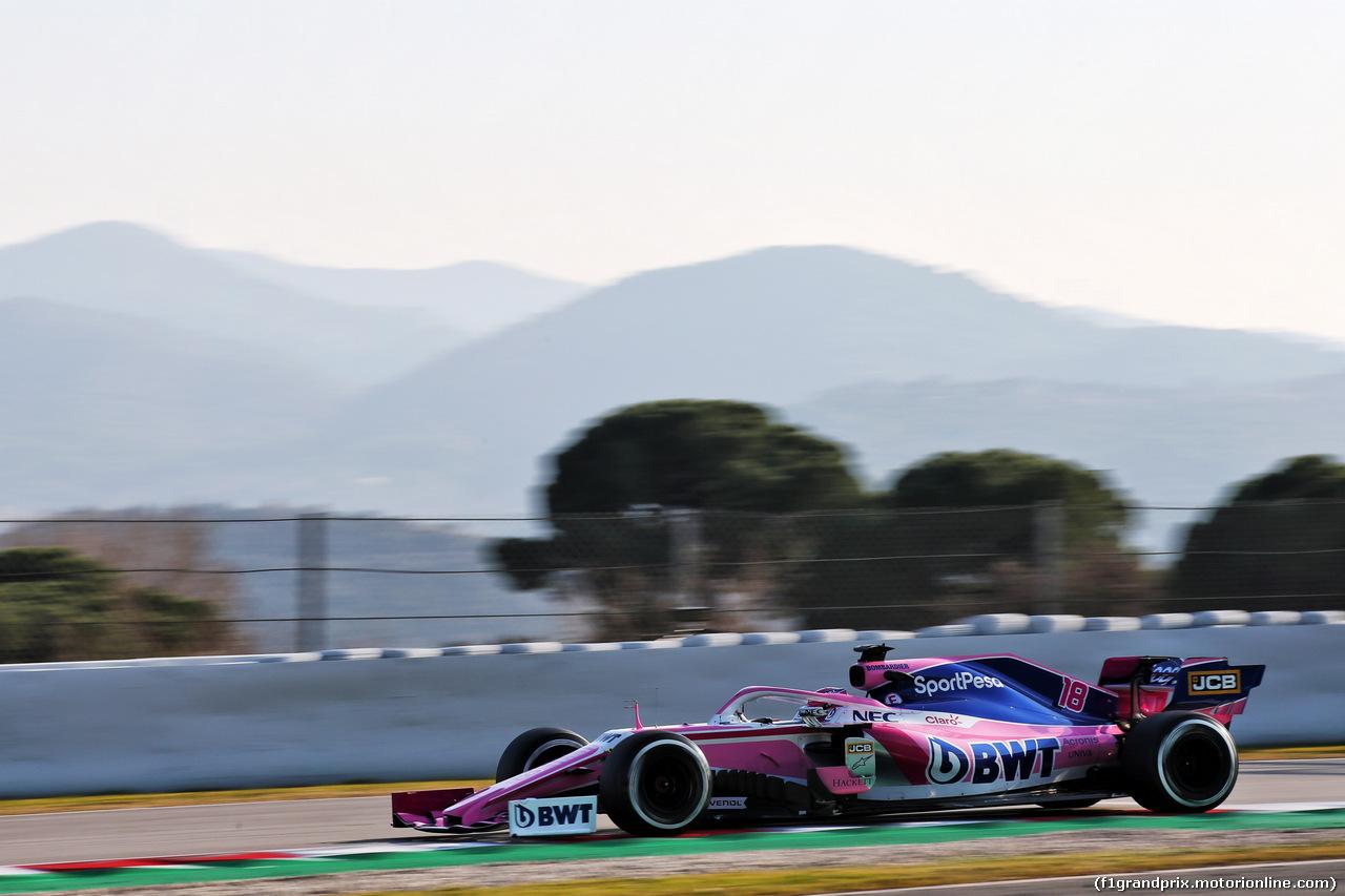 TEST F1 BARCELLONA 21 FEBBRAIO, Lance Stroll (CDN) Racing Point F1 Team RP19. 21.02.2019.