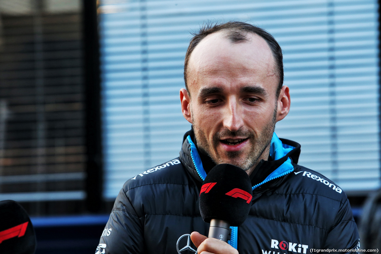 TEST F1 BARCELLONA 21 FEBBRAIO, Robert Kubica (POL) Williams Racing with the media. 21.02.2019.
