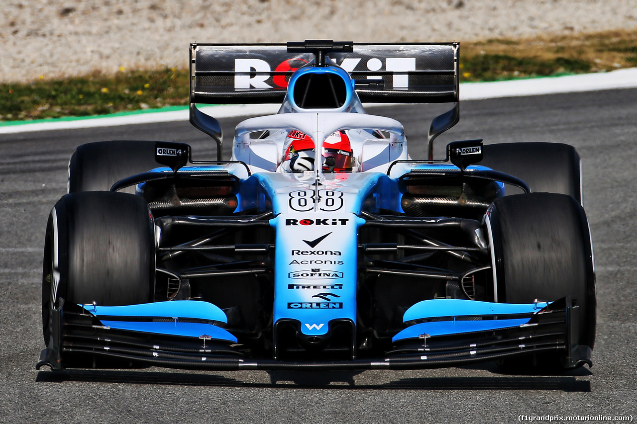 TEST F1 BARCELLONA 21 FEBBRAIO, Robert Kubica (POL) Williams Racing FW42. 21.02.2019.