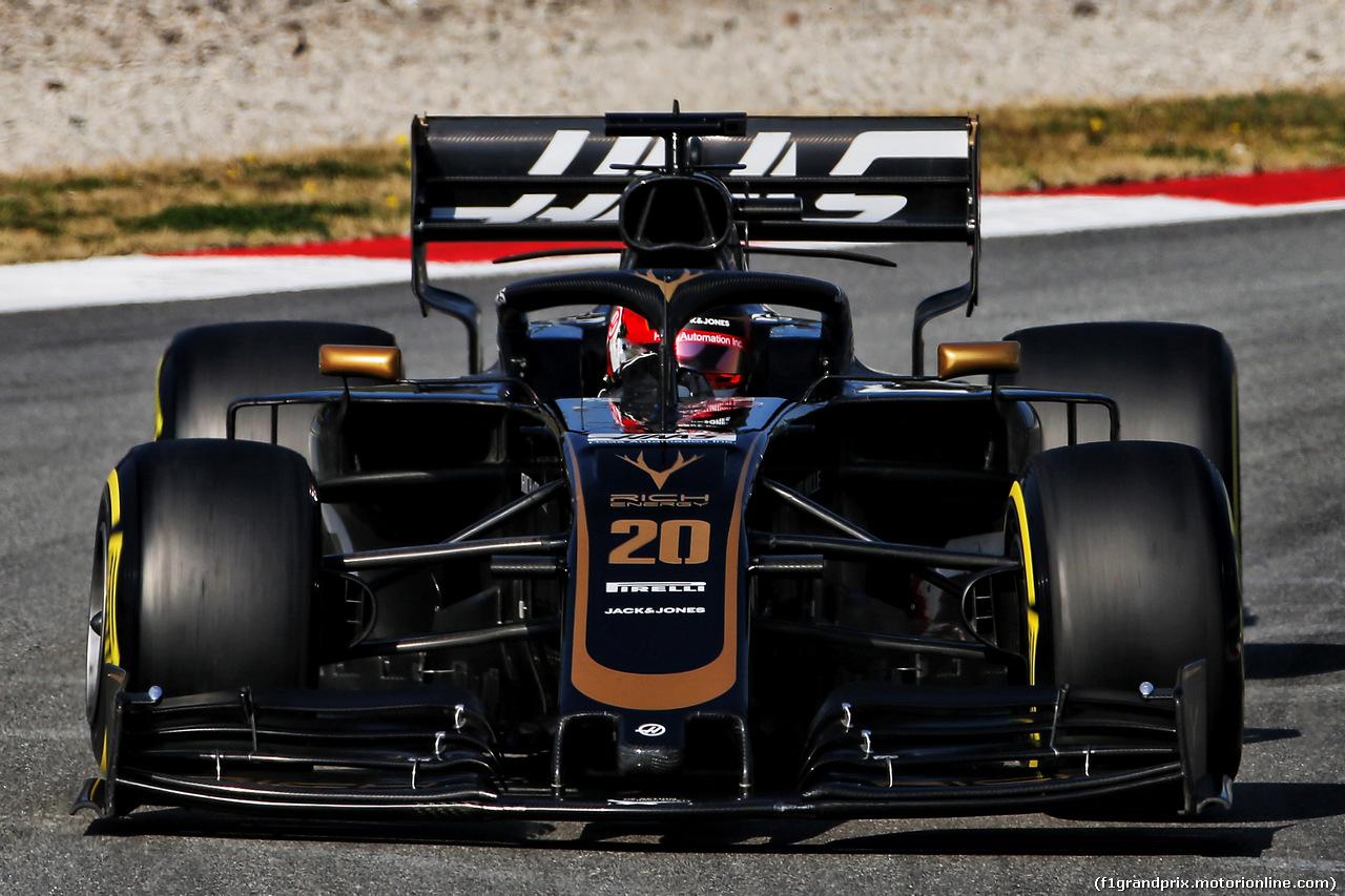 TEST F1 BARCELLONA 21 FEBBRAIO, Kevin Magnussen (DEN) Haas VF-19. 21.02.2019.