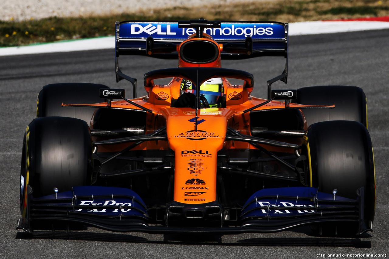 TEST F1 BARCELLONA 21 FEBBRAIO, Lando Norris (GBR) McLaren MCL34. 21.02.2019.
