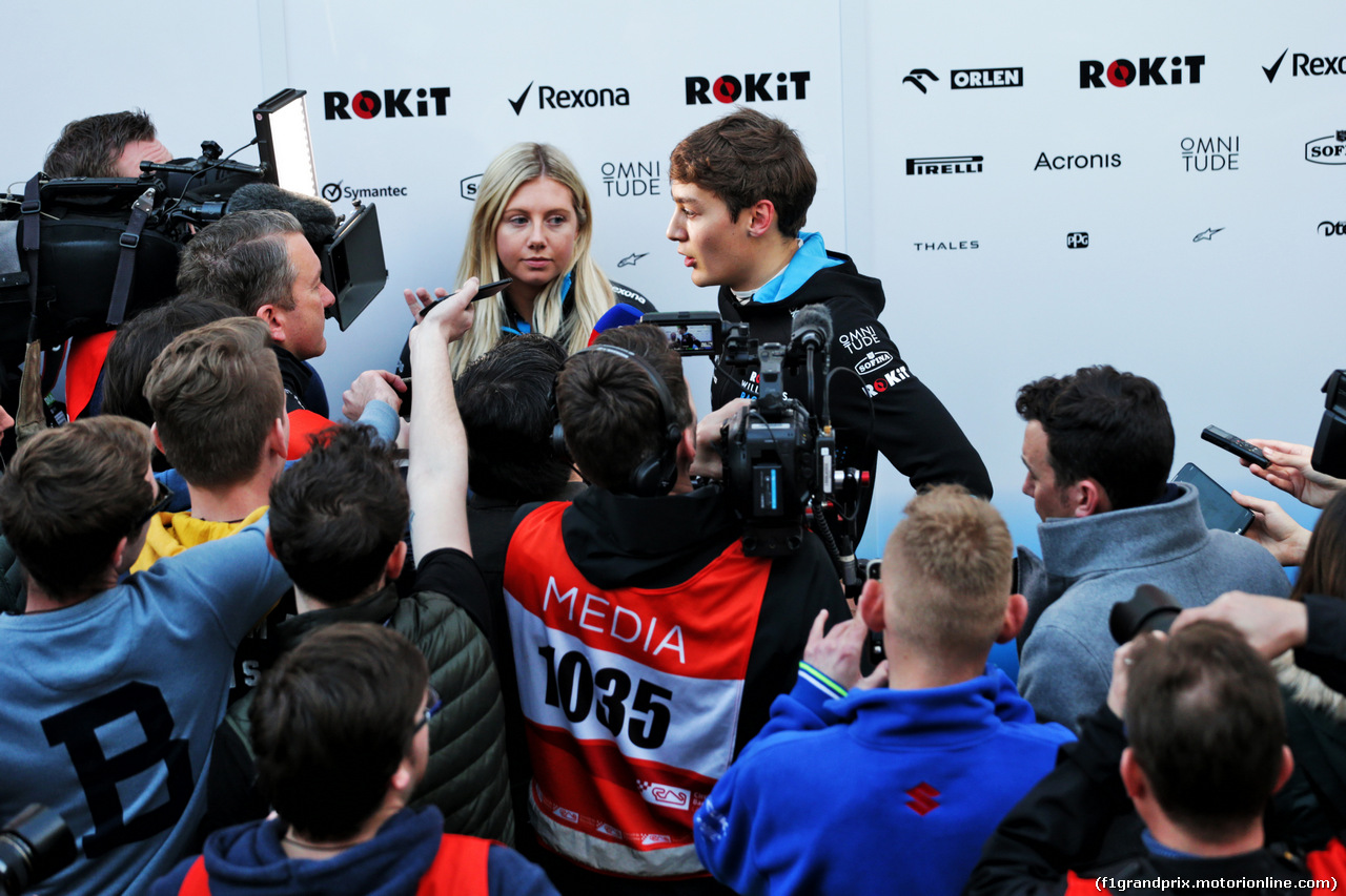 TEST F1 BARCELLONA 21 FEBBRAIO, George Russell (GBR) Williams Racing with the media. 21.02.2019.