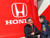 TEST F1 BARCELLONA 21 FEBBRAIO, (L to R): Toyoharu Tanabe (JPN) Honda F1 Technical Director with Christian Horner (GBR) Red Bull Racing Team Principal. 21.02.2019.
