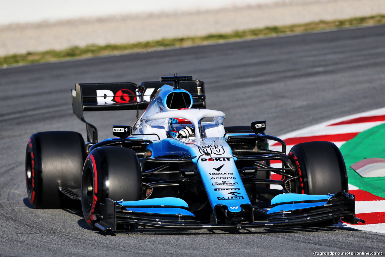 TEST F1 BARCELLONA 26 FEBBRAIO, George Russell (GBR) Williams Racing FW42. 26.02.2019.