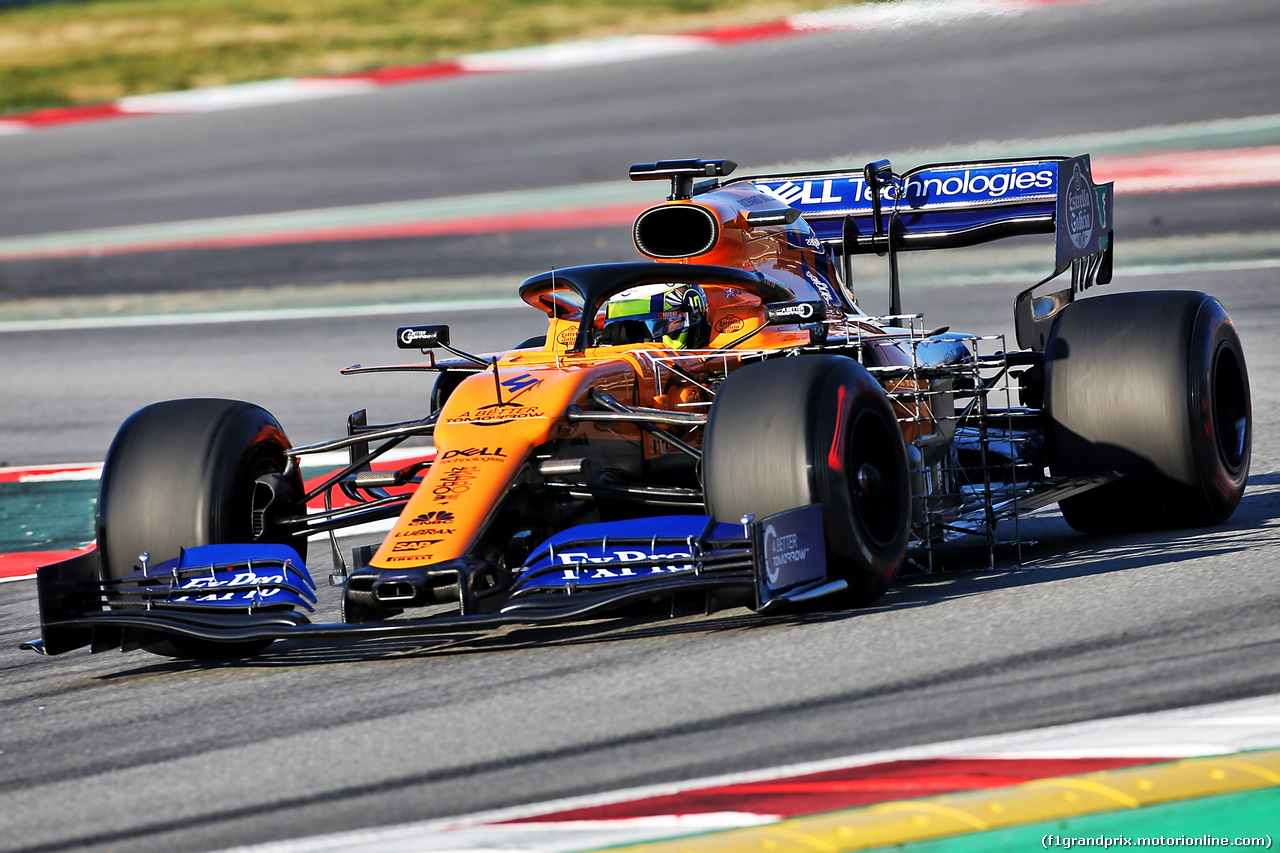 TEST F1 BARCELLONA 26 FEBBRAIO, Lando Norris (GBR) McLaren MCL34. 26.02.2019.