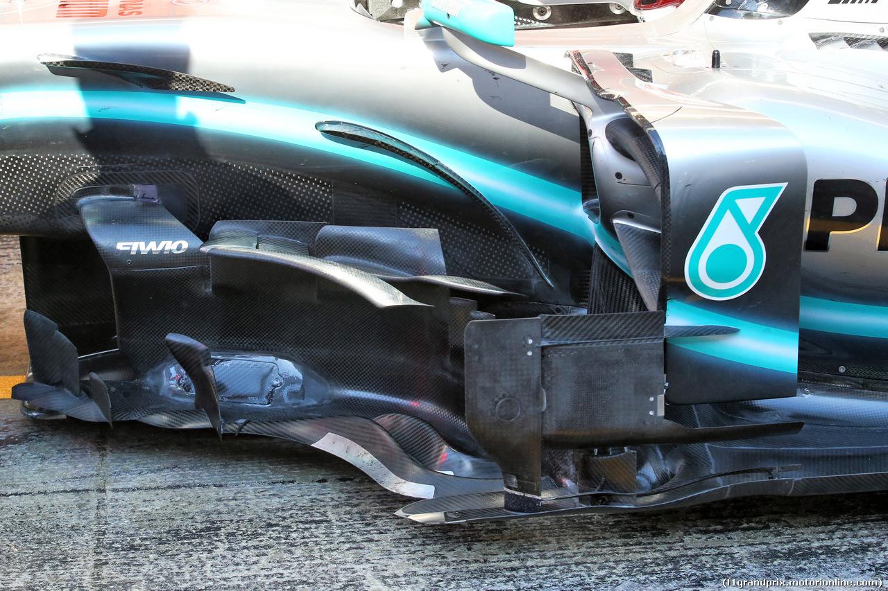 TEST F1 BARCELLONA 26 FEBBRAIO, Lewis Hamilton (GBR) Mercedes AMG F1 W10 sidepod detail. 26.02.2019.