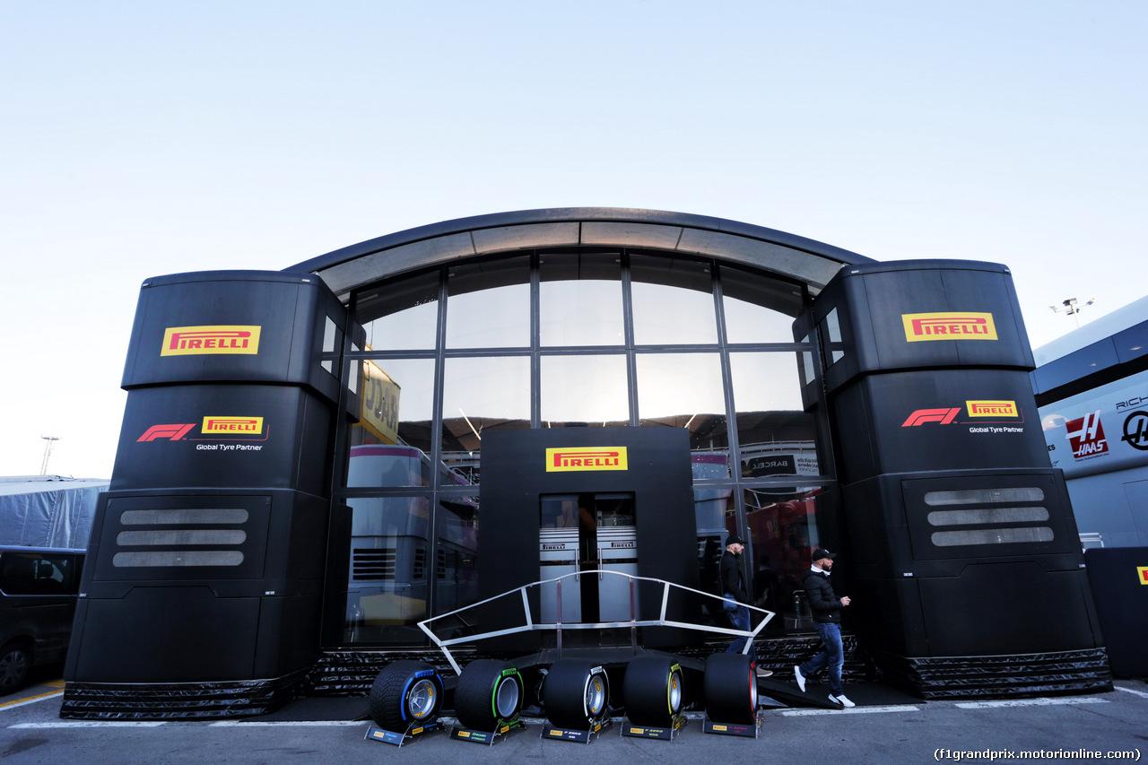 TEST F1 BARCELLONA 26 FEBBRAIO, Pirelli motorhome in the paddock. 26.02.2019.