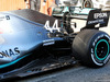 TEST F1 BARCELLONA 26 FEBBRAIO, Lewis Hamilton (GBR) Mercedes AMG F1 W10 rear suspension e floor detail. 26.02.2019.