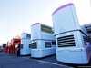 TEST F1 BARCELLONA 26 FEBBRAIO, Racing Point F1 Team trucks in the paddock. 26.02.2019.