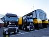 TEST F1 BARCELLONA 26 FEBBRAIO, Renault Sport F1 Team trucks in the paddock. 26.02.2019.