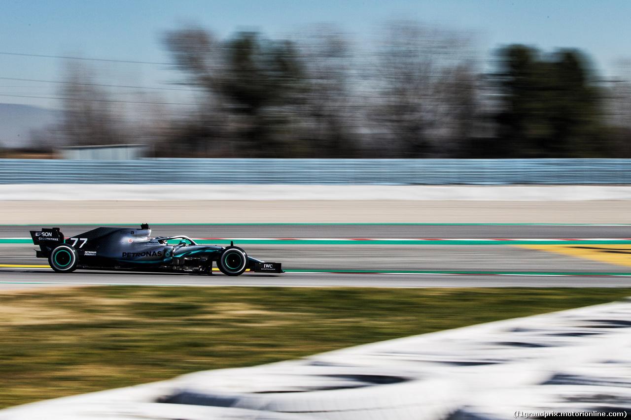 TEST F1 BARCELLONA 27 FEBBRAIO, Valtteri Bottas (FIN) Mercedes AMG F1 W10. 27.02.2019.