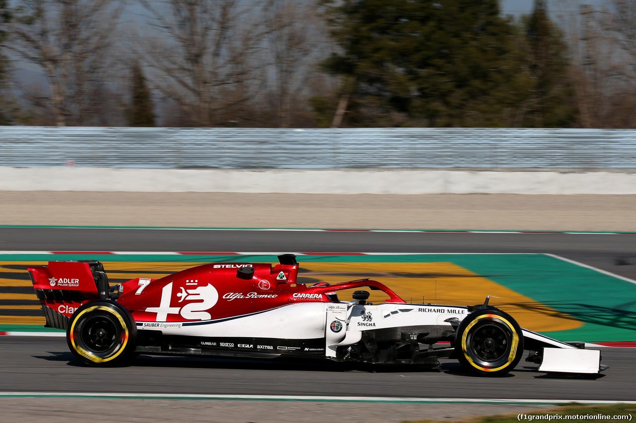 TEST F1 BARCELLONA 27 FEBBRAIO, Kimi Raikkonen (FIN) Sauber C37. 27.02.2019.