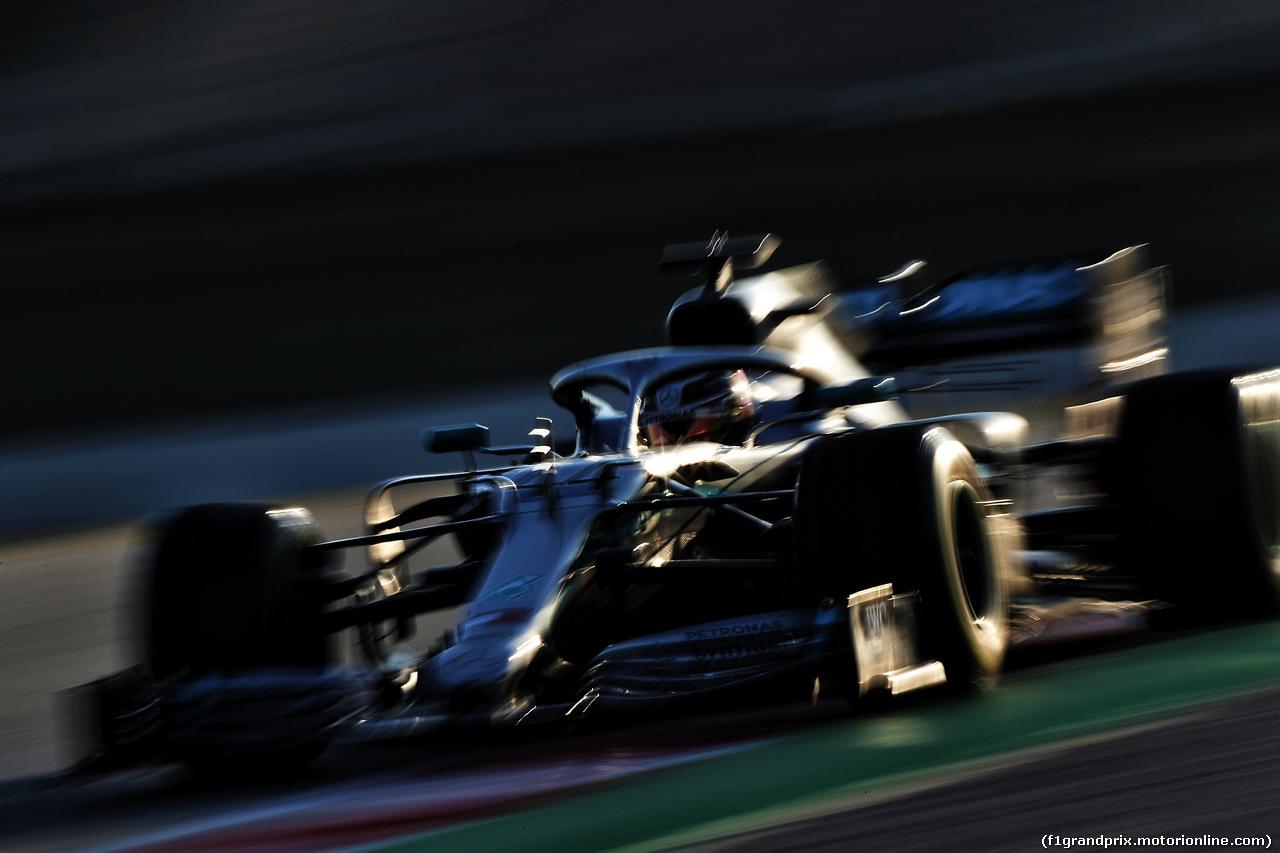 TEST F1 BARCELLONA 27 FEBBRAIO, Lewis Hamilton (GBR) Mercedes AMG F1 W10. 27.02.2019.