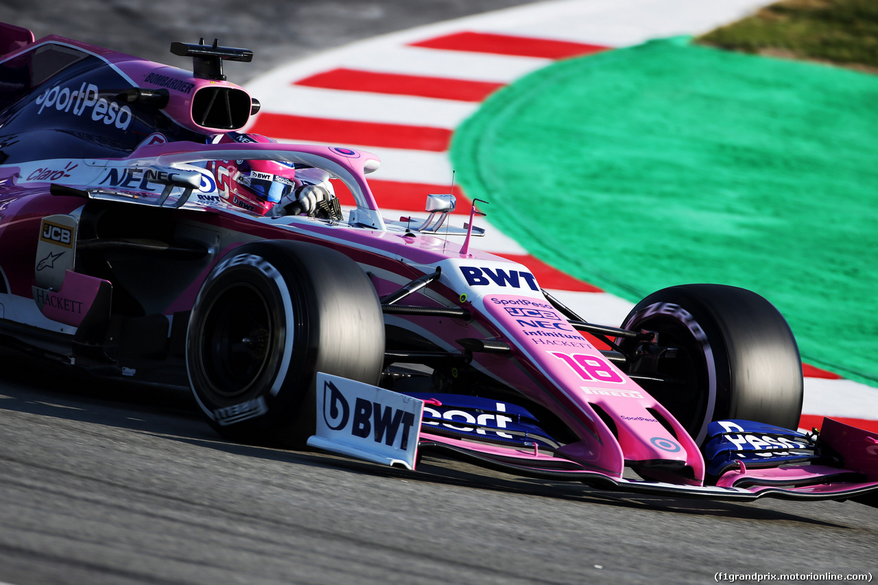 TEST F1 BARCELLONA 28 FEBBRAIO, Lance Stroll (CDN) Racing Point F1 Team RP19. 28.02.2019.