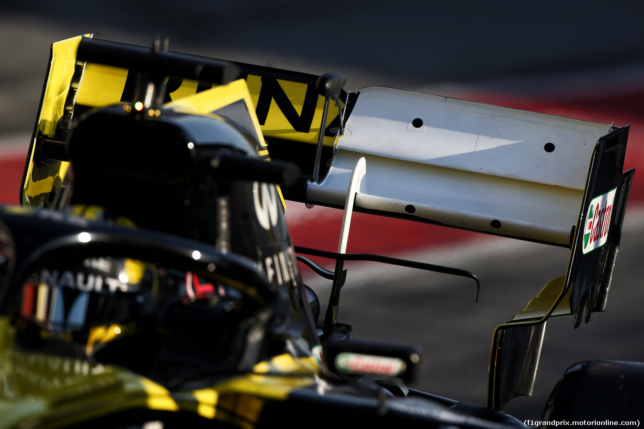 TEST F1 BARCELLONA 28 FEBBRAIO, Nico Hulkenberg (GER) Renault Sport F1 Team RS19 - rear wing. 28.02.2019.