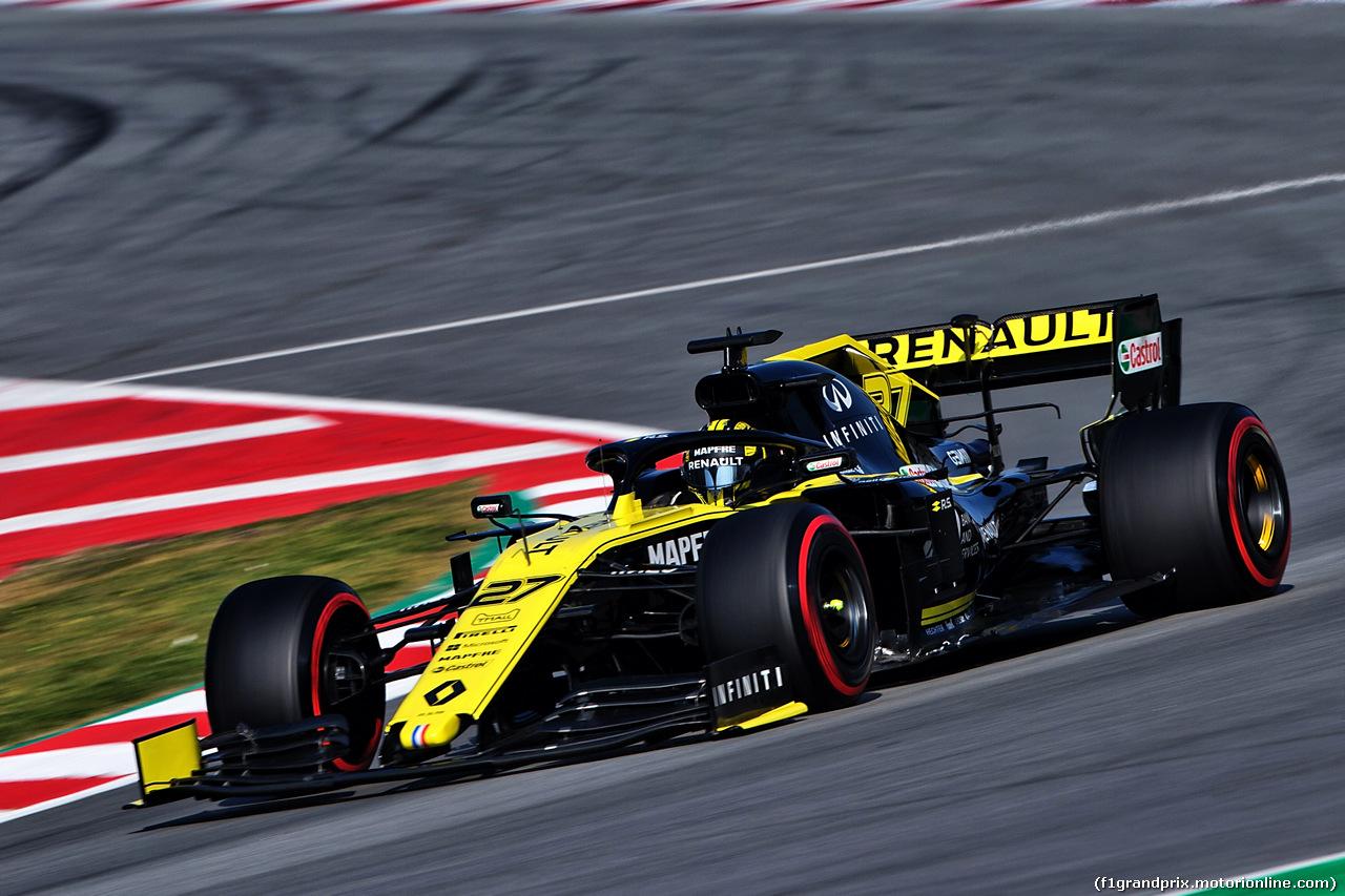 TEST F1 BARCELLONA 28 FEBBRAIO, Nico Hulkenberg (GER) Renault Sport F1 Team RS19. 28.02.2019.