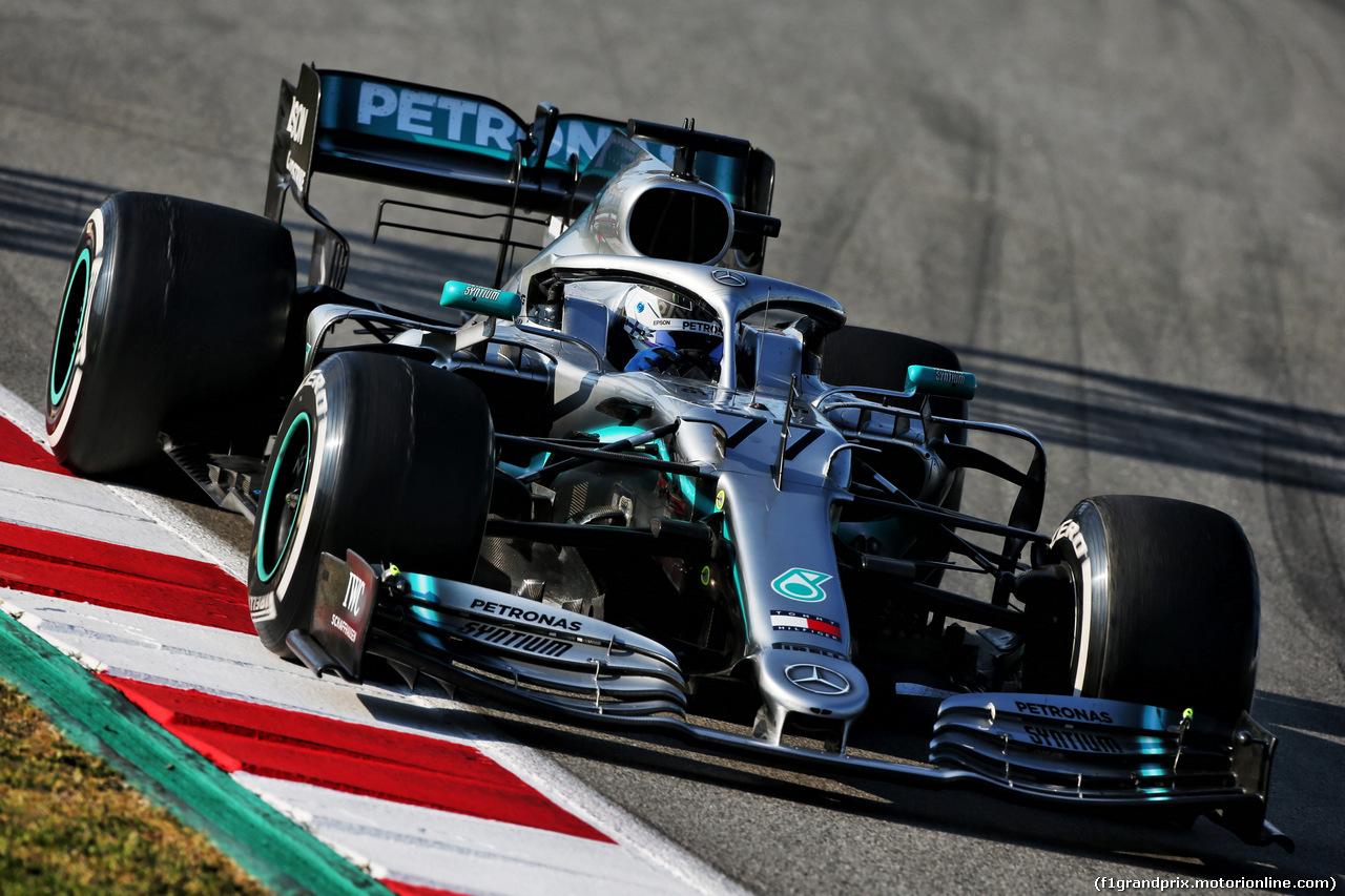 TEST F1 BARCELLONA 28 FEBBRAIO, Valtteri Bottas (FIN) Mercedes AMG F1 W10. 28.02.2019.