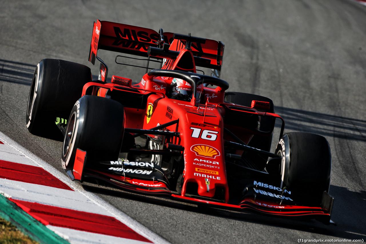 TEST F1 BARCELLONA 28 FEBBRAIO, Charles Leclerc (MON) Ferrari SF90. 28.02.2019.