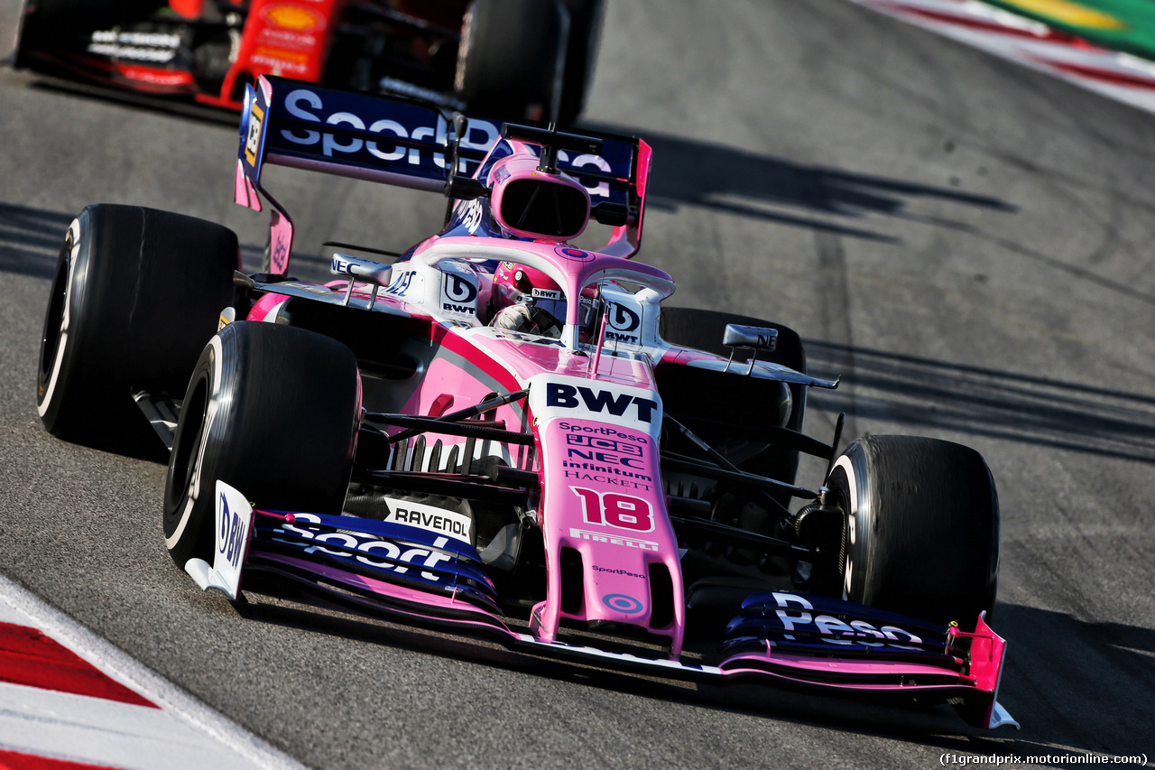 TEST F1 BARCELLONA 28 FEBBRAIO, Sergio Perez (MEX) Racing Point F1 Team RP19. 28.02.2019.